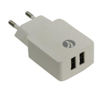 VCom Charger AC / 2A 2xUSB White VCOM-M013 product