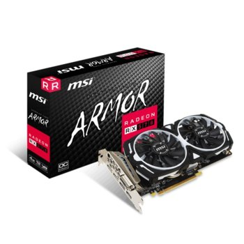 Видео карта AMD Radeon RX 570, 4GB, MSI Radeon RX 570 ARMOR 4G OC, PCI-E 3.0, GDDR5, 256bit, DisplayPort, HDMI, DVI image