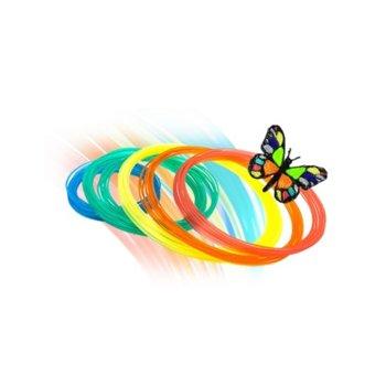 Консуматив за 3D писалка XYZprinting, PLA, 2 m., 6 цвята, 216 g image