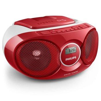 CD радиокасетофон Philips AZ215R, CD, FM, 3W (RMS) image
