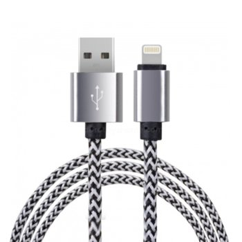 Кабел Digital One SP00079, от Lightning(м) към USB-A(м), сив image