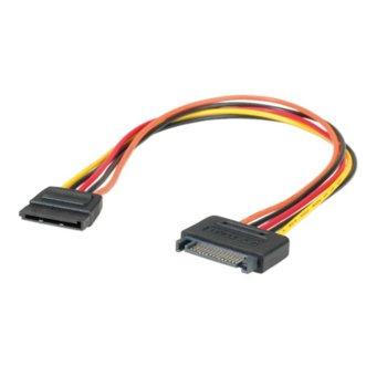 Захранващ SATA кабел Roline 11.03.1042, от SATA 15-pin(м) към SATA 15-pin(ж), 0.3m, удължителен  image