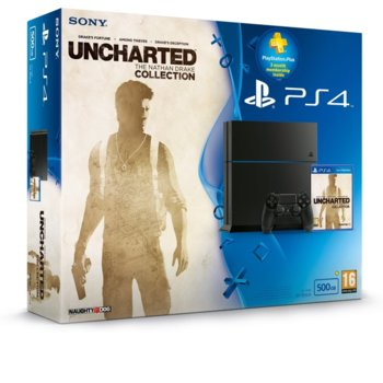 Конзола Sony PlayStation 4, 500GB HDD, UNCHARTED: The Nathan Drake, черна image
