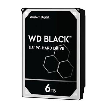 """Твърд диск 6TB WD Black Performance, SATA 6 Gb/s, 7200 rpm, 256 MB, 3.5"""" (8.89 cm) image"""