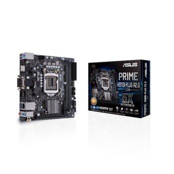 Дънна платка Asus H310I-PLUS R2.0/CSM, H310, LGA1151, DDR4, PCI-E (HDMI&DVI-D&VGA), 4x SATA 6Gb/S, 1x M.2 Socket, 4x USB 3.1 Gen 1, Mini ITX image