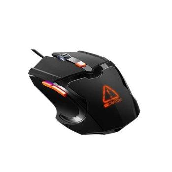 Мишка Canyon CND-SGM02RGB, оптична, 3200 dpi, USB, черна, RGB image
