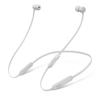 "Слушалки Apple Beats BeatsX, Bluetooth, микрофон, тип ""тапи"", сребристи image"