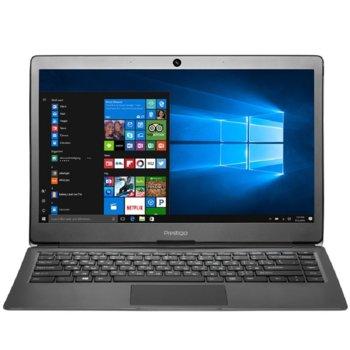 "Лаптоп Prestigio SmartBook 133S (PSB133S01ZFH_DG)(сив), двуядрен Apollo Lake Intel Celeron N3350 1.1/2.4 GHz, 13.3"" (33.78 cm) Full HD IPS Anti-Glare Display, (mHDMI), 3GB DDR3L, 32GB SSD, Windows 10 Home, 1.4 kg image"