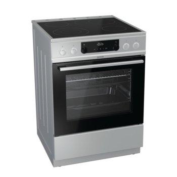 Готварска печка Gorenje EC6352XPA, клас A, 4 стъклокерамични нагревателни зони, 67 л. обем, индикатор за остатъчна топлина, система за сигурност, инокс  image