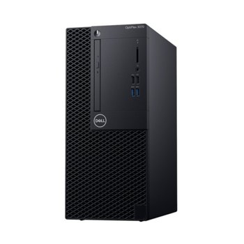 Настолен компютър Dell OptiPlex 3070 MT (DTO3070MTI34G1TU_UBU-14), четириядрен Coffee Lake Intel Core i3-9100 3.6/4.2 GHz, 4GB DDR4, 1TB HDD, 4x USB 3.1, клавиатура и мишка, Linux Ubuntu image