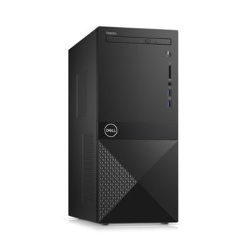 Настолен компютър Dell Vostro 3671 MT (N204VD3671EMEA01_R2005_22NM), четириядрен Coffee Lake Intel Core i3-9100 3.6/4.2 GHz, 4GB DDR4, 1TB HDD, 2x USB 3.1 Gen 1, клавиатура и мишка, Windows 10 Pro image