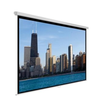 """Екран Avtek Video Pro 240, ръчен за монтаж на стена или таван, Matt White, 2400 x 2000 мм, 113"""", 4:3 image"""
