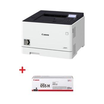 Лазерен принтер Canon i-SENSYS LBP663Cdw в комплект с тонер касетa Canon CRG-055H BK, цветен, 600 x 600 dpi, 27 стр/мин, LAN, Wi-Fi, A4 image