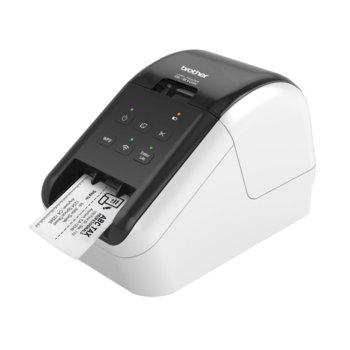 Етикетен принтер Brother QL-810W, директен термопечат, макс. ширина на етикета 62mm, AirPrint, Wi-Fi Direct, USB image