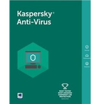 Софтуер Kaspersky Anti-Virus Eastern Europe Edition Base Box, лиценз за 1 година, 1 потребител, Windows image
