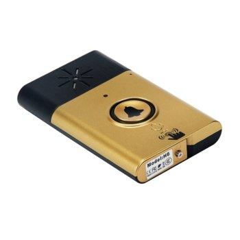 Аудиодомофон Meeyi W-H6, комплект приемник и предавател, може да работи като обикновен безжичен звънец и като звънец с домофонна функция, златист image