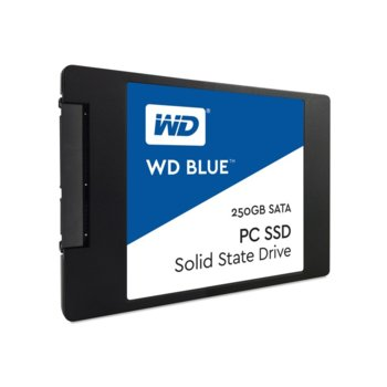 "Памет SSD 250GB Western Digital WD Blue PC WDS250G1B0A, SATA 6Gb/s, 2.5""(6.35 cm), скорост на четене 540 MB/s, скорост на запис 500MB/s image"