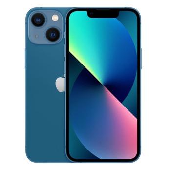 """Смартфон Apple iPhone 13 mini (син), 5.4"""" (13.72 cm) Super Retina XDR OLED дисплей, шестядрен Apple A15 Bionic 3.22 GHz, 4GB RAM, 256GB Flash памет, 12.0 + 12.0 & 12.0 MPix камера, iOS, 141g image"""