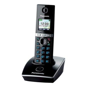 """Безжичен телефон Panasonic KX-TG8051, 1.45""""(3.68cm) TFT цветен дисплей, черен image"""