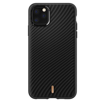 Калъф за Apple iPhone 11 Pro Max, термополиуретанов, Spigen Ciel Wave Shell 075CS27175, черен image