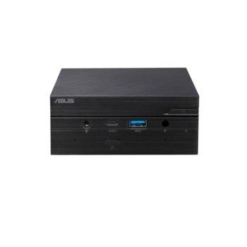 """Мини компютър Barebone Asus PN62S-BB3040MD, шестядрен Comet Lake Intel Core i3-10110U 2.1/4.1 GHz, 2x SO-DIMM DDR4, без твърд диск (M.2 NVMe + 2.5""""), USB 3.1 Gen 2 Type-C, WiFi и Bluetooth image"""
