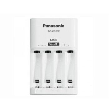 Зарядно устройство Panasonic BQ-CC51 Eneloop Basic Charger, с 4 гнезда АА/ААА image