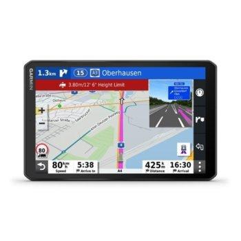"""Навигация за автомобил Garmin dēzl™ LGV1000 MT-D, 10""""(25.4cm) IPS TFT дисплей, 16GB вградена памет, Wi-Fi, Bluetooth, microSD слот, карта на Европа, доживотно обновяване image"""