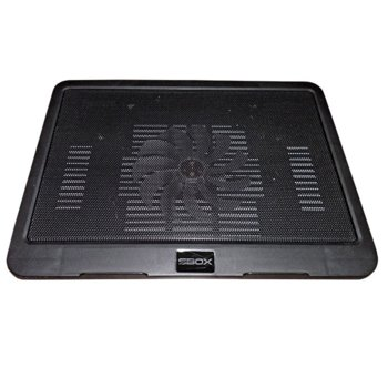 Охлаждаща поставка за лаптоп SBOX CP-19, универсална поставка за всички лаптопи до 330x250x24mm, 1000 rpm, 140x140x15mm вентилатор, черна image