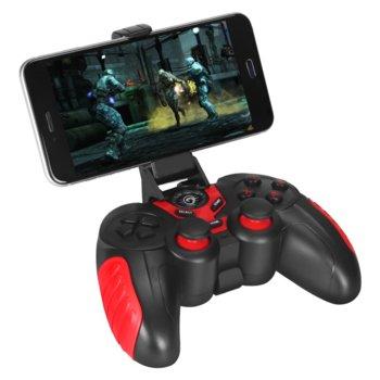 Геймпад Marvo GT-60, за PC/Android/iOS, безжичен/жичен, стойка за телефон, USB, черен image
