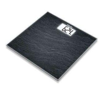 Електронен кантар Beurer GS 203 Slate, автоматично вкл./икл., LCD дисплей, натоварване до 150 кг, възможност за избор на мерни единици (kg/lb/st) image