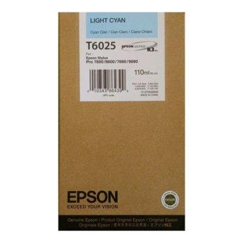 Глава за Epson Stylus Pro 7800/9800 - Light Cyan - P№ C13T602500 - Заб.: 110 ml. image