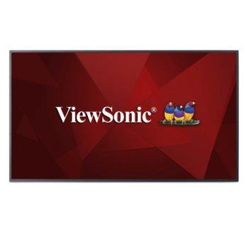 "Дисплей ViewSonic CDE5510, 54.6"" (138.684 cm), Ultra HD, HDMI, DVI-I, VGA, USB, RS232 image"