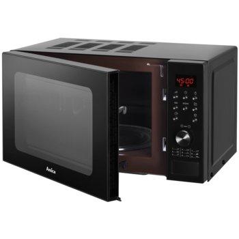 Микровълнова фурна Amica AMGF20E1GB, с грил, електронно управление, 700W, 20L обем, 5 степени на мощност, черна image