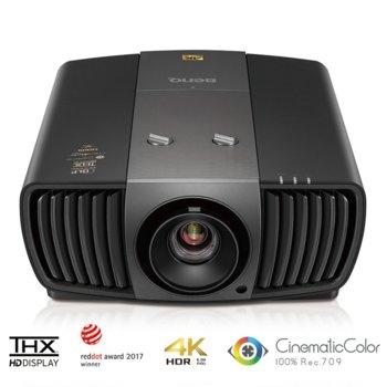 Проектор BenQ W11000H, DLP, 3D, 4K Ultra HD (3840x2160), 50000:1, 2200 lm, HDMI, USB, RS232, LAN, D-Sub image