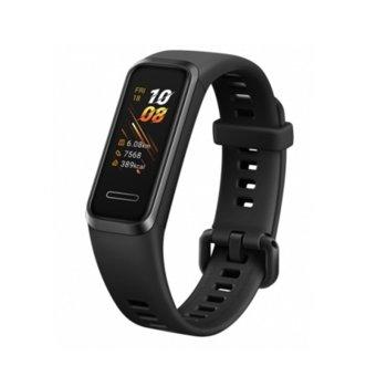 "Смарт гривна Huawei Band 4, 0.96"" (2.43 cm) TFT дисплей, 4GB памет, Bluetooth, водоустойчив, известия обаждания и съобщения, черна image"