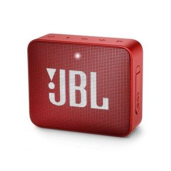 Тонколона JBL GO 2, 1.0, 3W RMS, 3.5mm jack/Bluetooth, червена, до 5 часа работа, IPX7 image