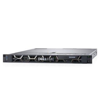 Сървър Dell PowerEdge R440 (PER440CEEM01), осемядрен Cascade Lake Intel Xeon Silver 4208 2.1/3.2 GHz, 16GB RDIMM DDR4, 240GB SSD, 2x 1GbE, 2x USB 3.0, без ОС, 1x 550W image
