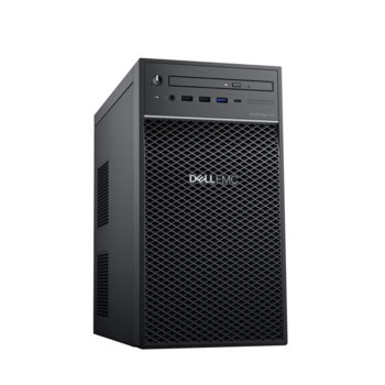 Сървър Dell PowerEdge T40 (PET40-CFG01-14), четириядрен Coffee Lake Intel Xeon E-2224G 3.5/4.7 GHz, 8GB DDR4 ECC UDIM, 1TB HDD, 1x LAN, без ОС, 300W PSU image