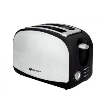 Тостер Rohnson R 207, 6 степени на изпичане, 2 отделения, ненагряващ се корпус, 900W, черен/металик  image