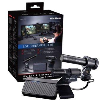 Комплект кепчър AVerMedia Live Streamer 311S, уеб камера и микрофон, външен, 1080p, HDMI image