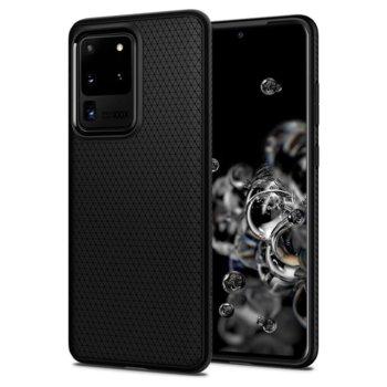 Калъф за Samsung Galaxy S20 Ultra, термополиуретанов, Spigen Liquid Air Case ACS00712, черен-матов image