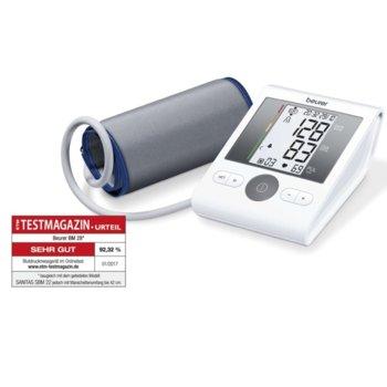 Апарат за кръвно налягане Beurer BM 28, индикация за рискови стойности, индикатор при аритмия, с чантичка, сив image