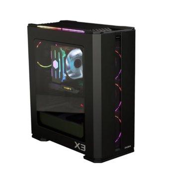 Кутия Zalman X3, ATX; mATX, Mini-ITX, 2x USB 3.0, прозорец, RGB LED контролер, черна, без захранване image