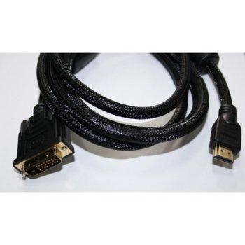 Кабел Digital One, от DVI(м) към HDMI(м), 1.8m, черен image