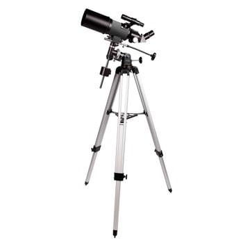 Телескоп Levenhuk Blitz 80s PLUS, рефракторен, 160x оптично увеличение, 80 mm диаметър на лещата(апертура), 400 mm фокусно разстояние image