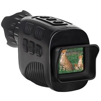 Монокъл Levenhuk Halo 13x, цифров за нощно виждане, монокулярен, 13x оптично увеличение, 1—4x цифрово увеличение, 33.5mm апертура, инфрачервено осветление със 7 нива на яркост, обхват на нощно откриване до 300 метра, захранване с батерии 5x AA, черен image