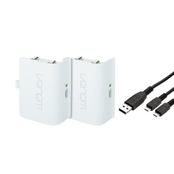 Сет от две презареждащи се батерии за Xbox One Venom, бял image