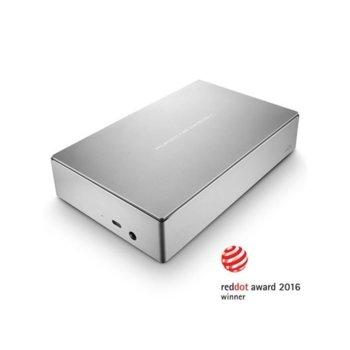 """Твърд диск 8TB LaCie Porsche (сребрист), външен, 3.5"""", USB 3.0 Type C image"""