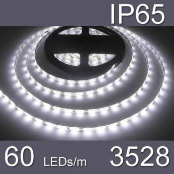 LED лента WFS3528-60CW, 4.8W/m, DC 12V, IP65, студено бяла, 1m image