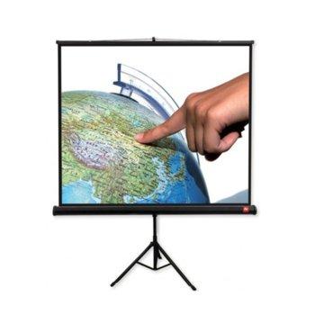 """Екран Avtek Tripod Standard 175, преносим сгъваем трипод, Matt White, 175х175см, 97"""", 1:1, универсален  image"""